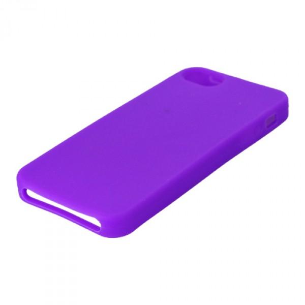 Силиконов калъф за iPhone 5 цвят лилаво