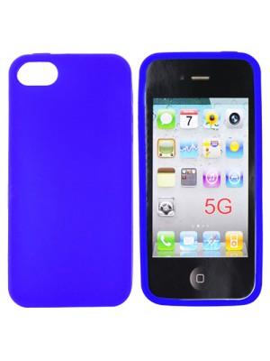 Силиконов калъф за iPhone 5 цвят синьо