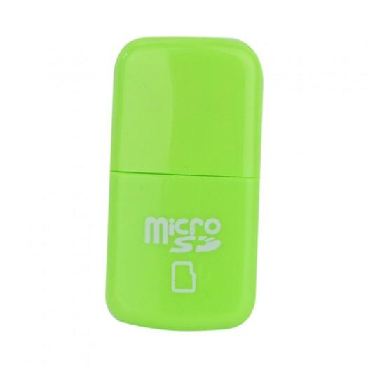 USB 2.0 четец за микро SD карти-Зелен