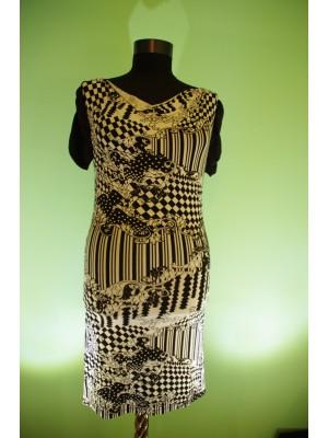Дамска рокля с къс ръкав с принт