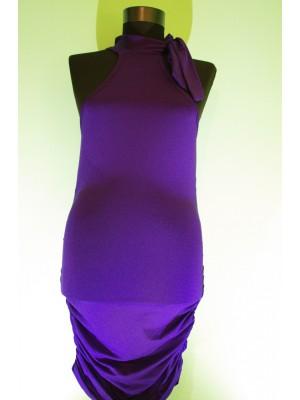 Дамска лятна рокля тип боди цвят лилав
